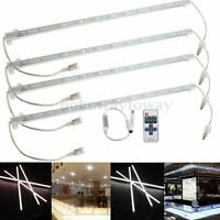4x 5630 LED 36 SMD Strip Lichtleiste Unterbauleuchte Streifen+Remote Wasserdicht