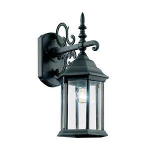Trans Globe Lighting Josephine 1-Light Swedish Iron Outdoor Wall Lantern Sconce
