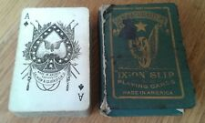 Vintage Salmon & Glucksteins Ixion Slip Playing Cards American Deck ULTRA RARE