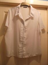 Ladies size 22 BHS cream lightweight short sleeve blouse shirt