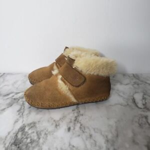 LL Bean Wicked Good Bootie Boots Shearling Lined 502193 Toddler Size 5-6 Brown