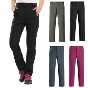 Men's Soft Shell WaterProof Thermal Trousers Outdoor Hiking Golf Winter