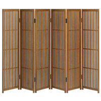 Folding Screen Partition Byoubu 30cm width x 6 panels made of Akita cedar.New