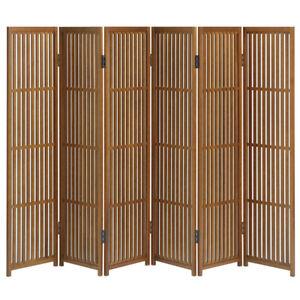 Folding Screen Partition Byoubu 30cm width x 6 panels made of Akita cedar.New