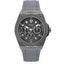 OROLOGIO GUESS LEGACY W1048G1 watch silicone GRIGIO CARBON MULTIFUNZIONE 45 MM