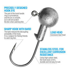 20X Lead Head Jig Carbon Steel Fishing Hook Crappie Jig Heads For Soft Lure Tool
