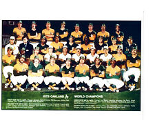 1973 OAKLAND ATHLETICS A'S  WORLD SERIES CHAMPIONS 8X10 TEAM PHOTO BASEBALL