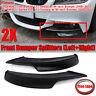 Unpainted Black Front Bumper Splitter Lip For BMW E90 E91 335i 328i LCI M Tech