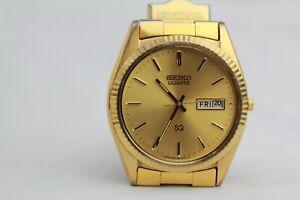 Men's Vintage Seiko Day Date Gold Tone Watch 5H23-8029
