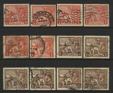 Great Britain 1924 / 1925 Collection KGV British Empire Exhibition Stamps Used