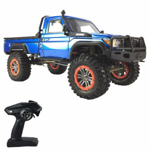 Rc Car Hobby 2.4Ghz 1/10 4Wd Rock Crawler Land Cruiser Climbing Off Road Blue