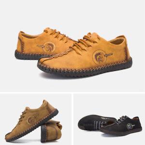 Neu Herren Loafer Mokassin Espadrilles Leder Schuhe Freizeitschuhe Wanderschuhe