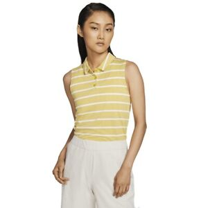 Nike Golf Dri-Fit Polo (Women's Size S) Athletic Sleeveless Striped Golf Shirt