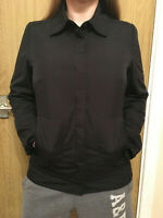 Ladies Black Gap Coat Jacket - Size Medium (Approx UK Size 12)