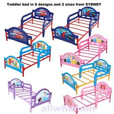 2In1 Kids Toddler Extendable Bed W/Safety Rails Furniture Cars Frozen Spider-Man