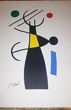 Joan Miro Serigraph Unframed