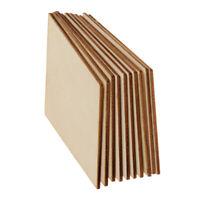 Prettyia 10 Wood Plywood Sheet Blank MDF Wooden Rhombus Pieces Tags 100x50mm