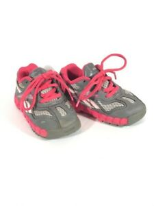 Reebok Toddler Minizig, Gray/ Pink Lace Up, Size 6, Pre-Owned, Excellent Cond!