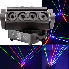 8 Lens Pixels RGB Fat-Beam Moving Head Spider Laser Stage Lighting DJ Club Light