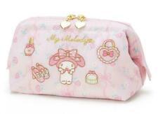 My Melody Pink Emboredery Logo Zip Cosmetics Makeup Handbags Pencil Bags Gifts