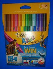 NUOVO 3 confezioni di BIC Kids Visa 12 PENNARELLI LAVABILI PUNTA FINE COLORE DIVERSO