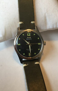 Vintage HMT manual wind Pilot watch Ex runing condition New sage green strap