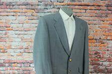 Sterling & Hunt Gray Two Button Gold Btn Wool Blazer Sport Coat Suit Jacket 44R