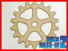 MDF Wooden Shapes Cogs 100mm High 3mm Thick Custom Cut X 5 Pieces Cog24