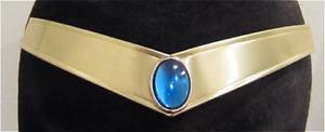 Sailor Moon Mercury Smooth Blue Gem Metal Cosplay Tiara cosplay crystal