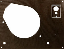 Deckplatte Platte face plate für Thorens TD 145 146 147 160 165 166 Karbon gold