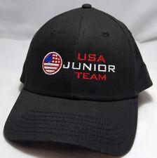 USA JUNIOR GOLF OLYMPIC hat cap black adjustable strapback callaway