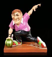 Bowlingspieler Lustige Figur wirft Kugel - Funny Sports - Geschenk witzig Spaß