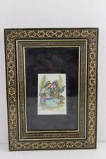 Persian Framed MicroMosaic Hand Painted Miniatures Signed by Kargasi 20X15cm