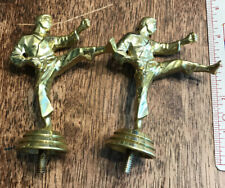 Lot (2) Plastic Martial Arts Karate Trophy Toppers
