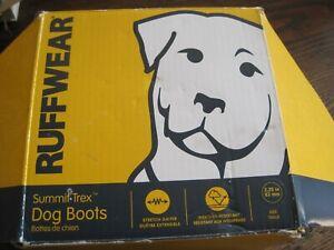 "Ruffwear Summit Trex Dog Boots Set of 4 STORM GRAY Sz 3.25""/83MM IN BOX-DOG GEAR"