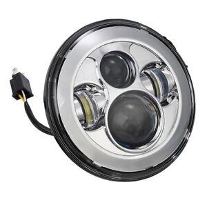 "7"" LED Bulb Headlight Head Light For Harley Hi/Lo Beam Assemblies Lamp Projector"