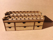 Paint Stand 36 Pot rack + storage drawers Tamiya Acrylic warhammer 40k wargame