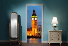 Door Mural Big Ben London View Wall Stickers Decal Wallpaper 3