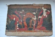 19TH C or older ANTIQUE TSAKLI Card SMALL TIBET THANKA Painting Thangka