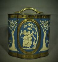 lot 2 vintage Murray Allen Regal Crown English Candy Tin wood nymphs flowers