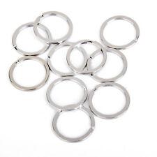 100pcs Wholesale 30mm Silver Flat Split Key Ring Chain Holder Craft Hardware