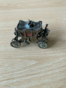 Rare Edwardian/Antique Metal Coronation Coach/Carriage Tape Measure