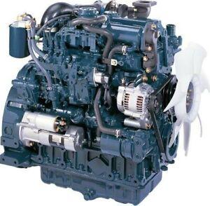 KUBOTA MINI DIGGER/DUMPER RECON REPAIR ENGINE
