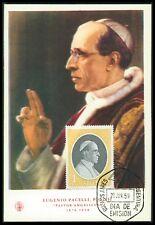 Argentina MK 1959 papa Pio XII POPE PAPA PIO MAXIMUM cartolina MAXIMUM CARD MC bf63