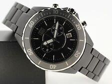 Quarz-Armbanduhren (Batterie) mit Keramik-Armband, Chronograph und mattem Finish