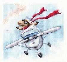 """Counted Cross Stitch Kit RTO - """"I fly wherever I want to"""""""
