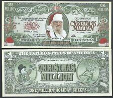 Real Santa St Nicholas Christmas Million Dollar Bill Funny Money + FREE SLEEVE