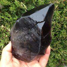 321g Beautiful Black Quartz Crystal Point Specimen Rare K538