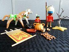 Vintage Playmobil Geobra Native American Indian Set -1974 INCOMPLETE