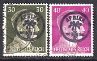GERMANY 519-520 AFRIKAKORP OVERPRINTS CDS F/VF TO VF SOUND